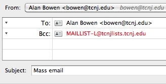 Mass email address example